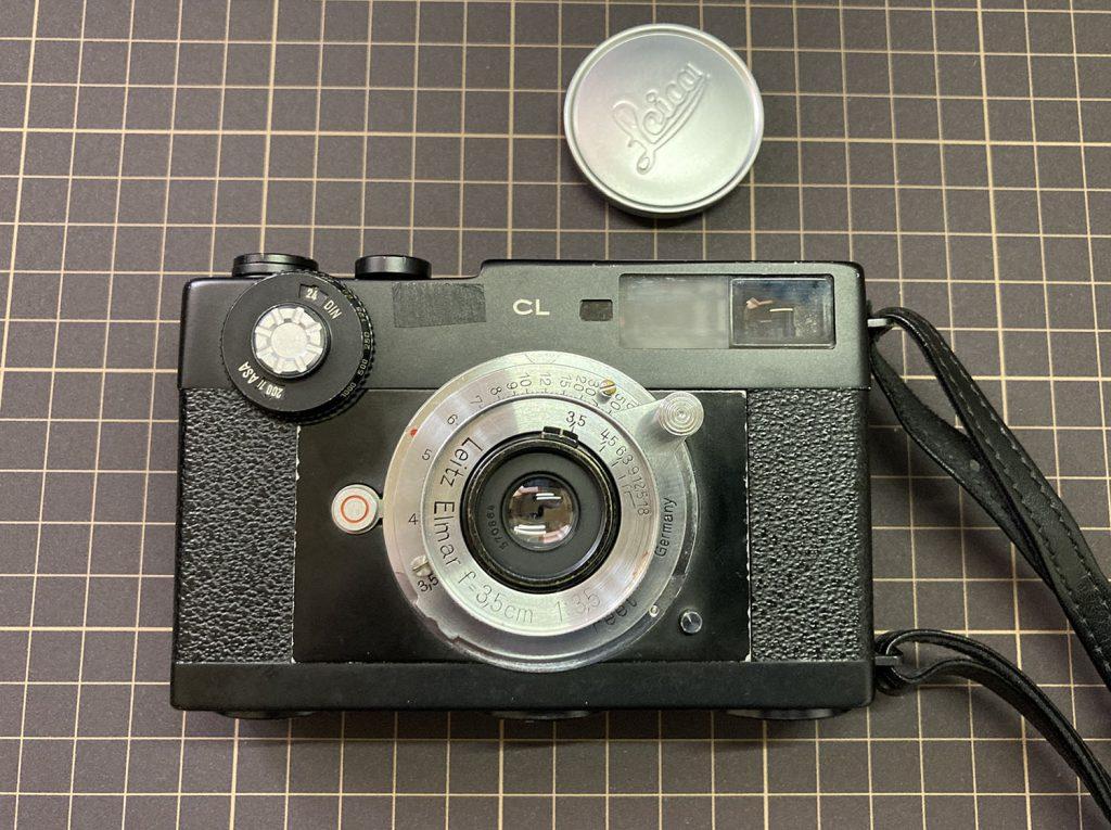 elmar 35mm f3.5 + Leica CL